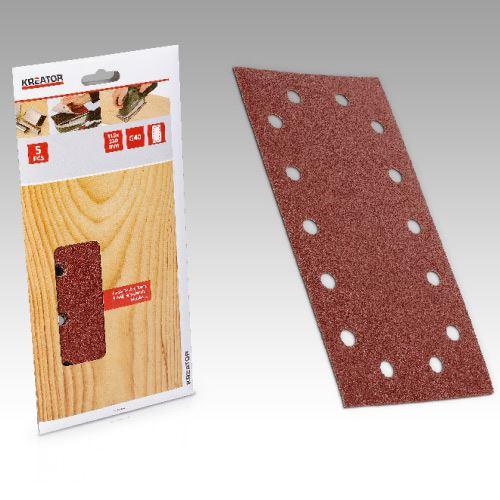 Příslušenství k vibrační brusce KREATOR KRT203005 5X Brusný papír 115X230 G80