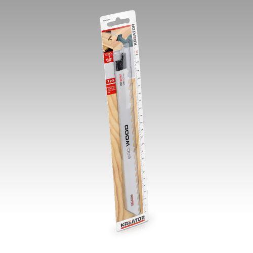 Náhradní nože KREATOR KRT031003 2 ks Pilový plátek pro ocasovou pilu na dřevo 230-5