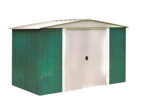 Kovový zahradní domek Arrow Dresden 108, zelený - 313 x 242 cm