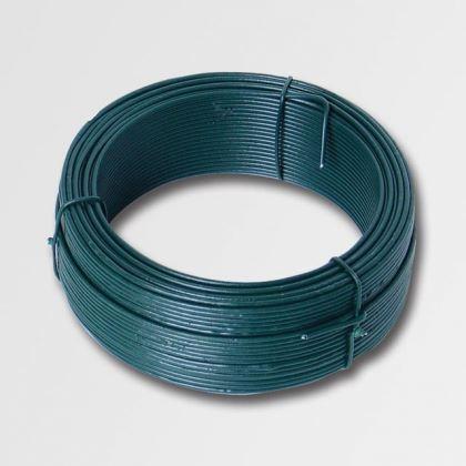 Vázací drát XTline 42244, 1.4mmx50M zelený PVC