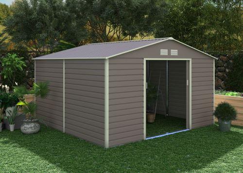 Kovový zahradní domek G21 GAH 1085, 340 x 319 cm, šedý, 63900571