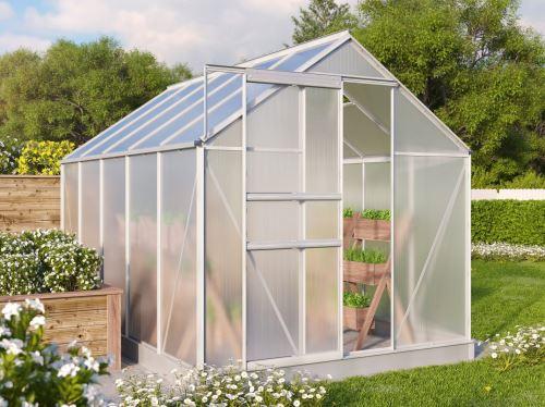 Zahradní skleník Vitavia TARGET 6200 PC 4 mm stříbrný