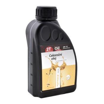 Olej pro dvoudobý motor Riwall PRO celoroční, 2-taktní motory (0.5l)