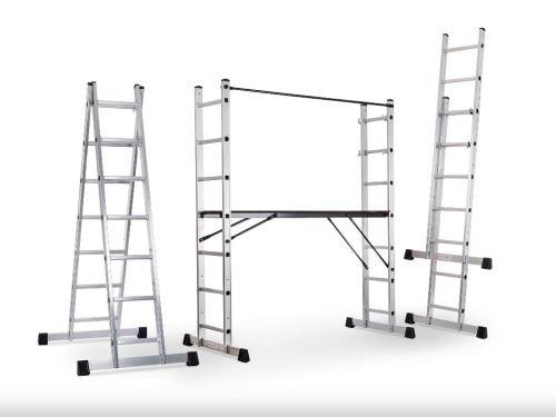 Multifunkční žebřík G21 Multifunkční lešení G21 Handrail 1,96 x 1,59m 6390390