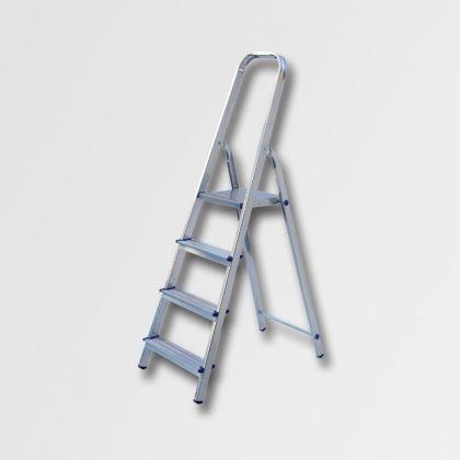 Hliníkové schůdky - štafle ELKOP Jednostranný hliníkový žebřík 4 stupně, ALW 1404