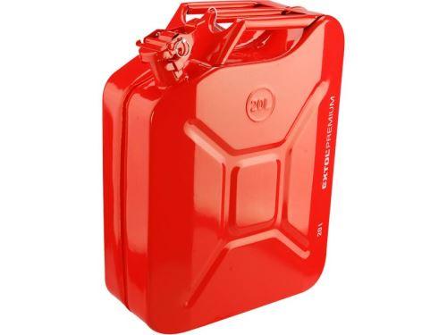 Kanystr/Trychtýř EXTOL PREMIUM kanystr ocelový na benzín, 20l, 8863200