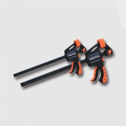 Svorky plastové STAVTOOL P13667/P, Stolařská svěrka GRIP 450mm
