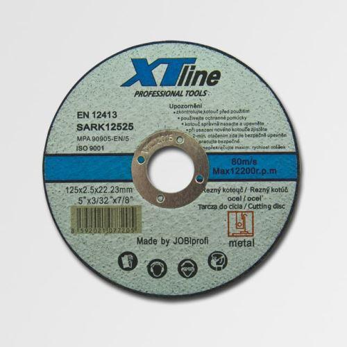 Flex kotouč řezný 125 mm XTline řezný kotouč na ocel 125x1,6x22,2 SARK12516