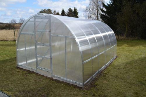 Skleník Garden Obloukový ocelový pozinkovaný skleník SPECIÁL 3 × 6m, PC 4 mm