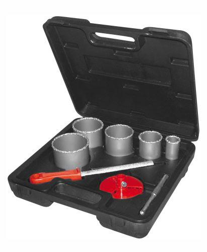 Vykružovač PROTECO sada vykružovacích korunek DIA (33, 53, 67, 73, 83 mm) v kufru, 42.01-10141