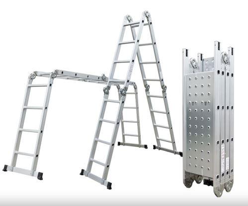 Multifunkční žebřík G21 GA-SZ-4x4-4,6M multifunkční s podlážkou