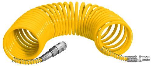 Tlaková hadice PROTECO hadice spirálová PU 8/12mm 5 m s rychlospojkami STOP, 10.2501-81205