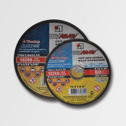 Flex kotouč řezný 150 mm LUGA ABRASIVE řezný kotouč na ocel a nerez 150x1,6x22,2 LU15016