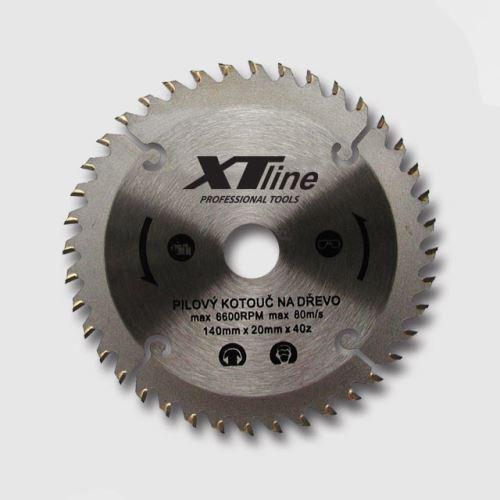 Pilový kotouč XTline TCT16060 Kotouč pilový profi 160x20/60 zubů, trapézové