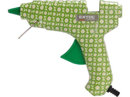 Tavná lepící pistole EXTOL CRAFT pistole tavná lepící, květinová, 40W, 11mm, 422100