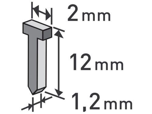 Příslušenství ke sponkovací-hřebíkovací pistoly EXTOL PREMIUM hřebíky, 1000ks, 12mm, 2,0x0,52x1,2mm, 8852404
