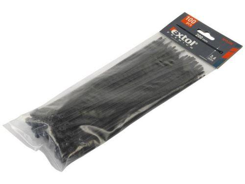 Páska stahovací EXTOL PREMIUM pásky na vodiče, 4,8x300mm, 100ks, černé 8856162