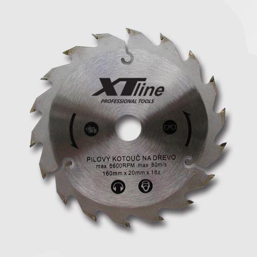 Pilový kotouč XTline TCT16018 Kotouč pilový profi 160x20/18 zubů