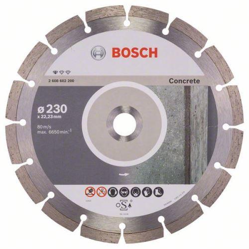 Diamantový kotouč BOSCH Diamantový dělicí kotouč Standard for Concrete - 230 x 22,23 x 2,3 x 10 mm - 3165140441285