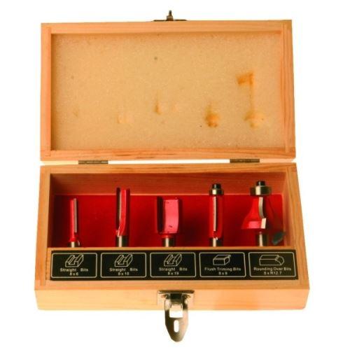 Příslušenství k frézce FESTA Sada 5 ks tvarové frézy do dřeva,8mm