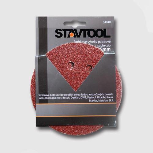 Příslušenství k excentrické brusce STAVTOOL Výsek - suchý zip p125/P40 1bal/6ks typ BOSCH KL04040