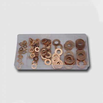 Spojovací materiál CORONA PC0406, sada podložek měděných 110ks