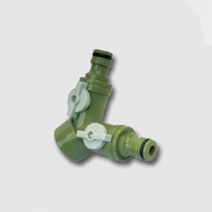 Zavlažování XTline SB6024, Rozdvojka s ventily pro 2 rychlospojky (45134)