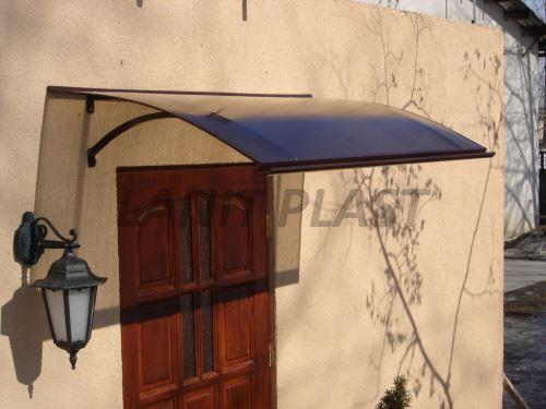 Vchodová stříška LanitPlast LARUS 120/87 hnědá