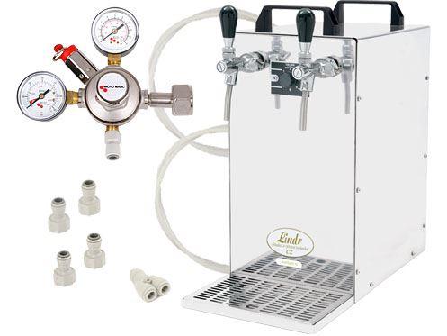 Výčepní sestava Lindr KONTAKT 70 Green Line s redukčním ventilem CO2 bez naražečů