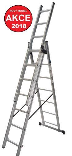 Žebřík XTline Žebřík 3x7 trojdílný hliníkový, XT607 a úprava na schody