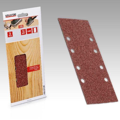 Příslušenství k vibrační brusce KREATOR KRT202005 5X Brusný papír 93X230 A G80